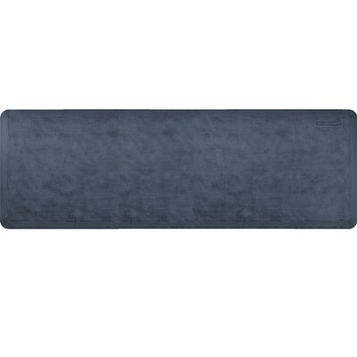 Estates Linen Kitchen Mat Mat Size: Rectangle 2 x 6, Color: Midnight Blue
