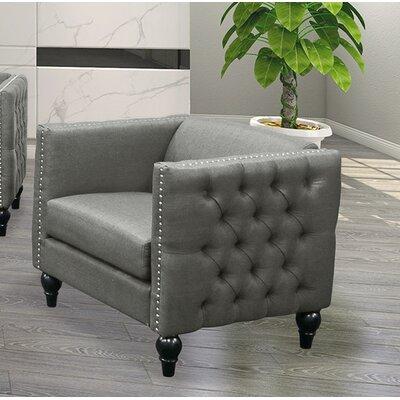 Iser Upholstered Armchair Upholstery: Gray
