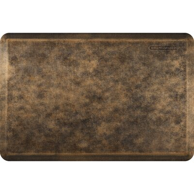Estates Linen Kitchen Mat Mat Size: Rectangle 2' x 3', Color: Bronze