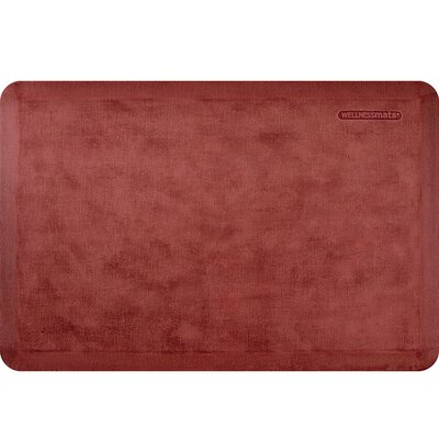 Estates Linen Kitchen Mat Mat Size: Rectangle 2 x 3, Color: Burnished Copper