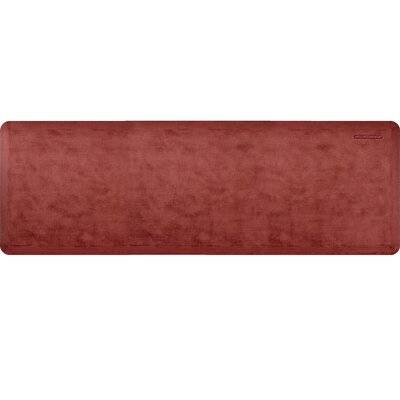 Estates Linen Kitchen Mat Mat Size: Rectangle 2 x 6, Color: Burnished Copper