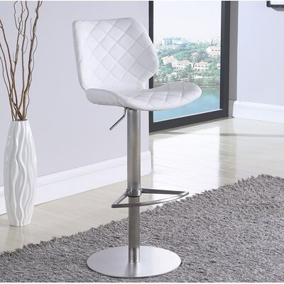 Mesirow Adjustable Height Swivel Bar Stool