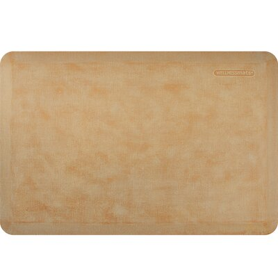 Estates Linen Kitchen Mat Mat Size: Rectangle 2' x 3', Color: Aztec Gold