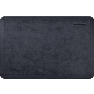 Estates Linen Kitchen Mat Mat Size: Rectangle 2 x 3, Color: Onyx