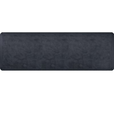 Estates Linen Kitchen Mat Mat Size: Rectangle 2 x 6, Color: Onyx