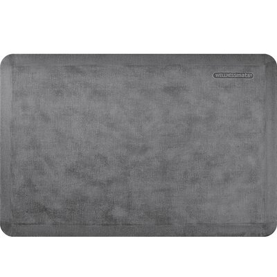 Estates Linen Kitchen Mat Mat Size: Rectangle 2 x 3, Color: Slate