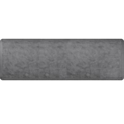 Estates Linen Kitchen Mat Mat Size: Rectangle 2 x 6, Color: Slate