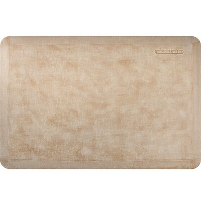 Estates Linen Kitchen Mat Mat Size: Rectangle 2' x 3', Color: Sand Dollar