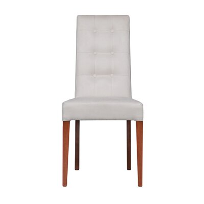 Wulin Upholstered Dining Chair (Set of 2) Color: Beige/Brown