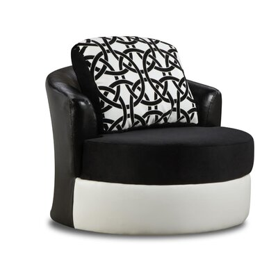 Koyande Swivel Barrel Chair