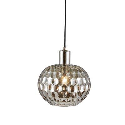 Deleo Glass 1-Light Globe Pendant