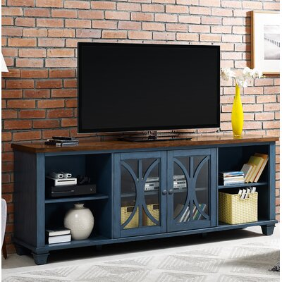 Peachstone 80 TV Stand Color: Rich Denim Blue