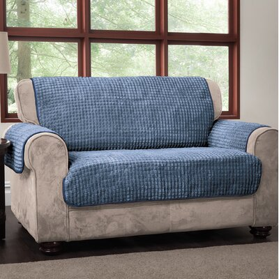 Box Cushion Loveseat Slipcover Upholstery: Blue, Type: Loveseat