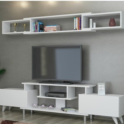 Cevallos 59 TV Stand Color: White