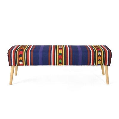 Brookhaven Ottoman Upholstery: Purple Print