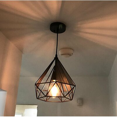 Mccune Art Deco Vintage 1-Light Geometric Pendant