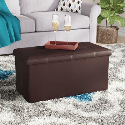 Francine Srorage Ottoman Upholstery: Brown