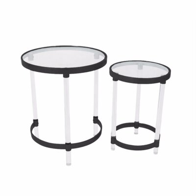 Mclendon Acrylic 2 Piece Nesting Tables