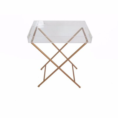 Mclellan Acrylic and Metal Tray Table