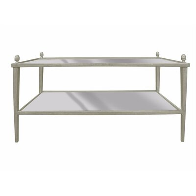 Levins Metal & Glass Tapered Leg Coffee Table