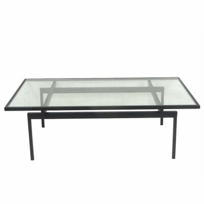 Lecuyer Ornate Metal and Glass Coffee Table