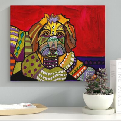 'Aussiedoodle' Graphic Art Print on Wrapped Canvas EBND3383 39317536