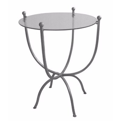 Levey Desire Metal & Glass End Table Table Base Color: Silver