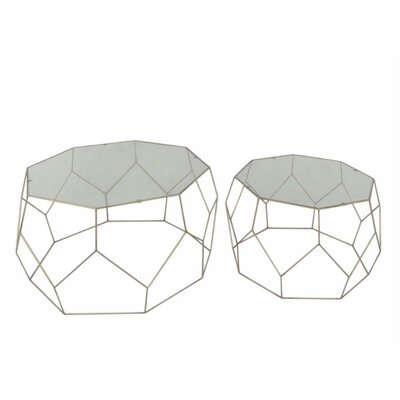 Mclaren Impressive Metal 2 Piece Nesting Tables