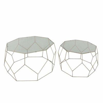 Mclaren Impressive Metal 2 Piece Nesting Tables