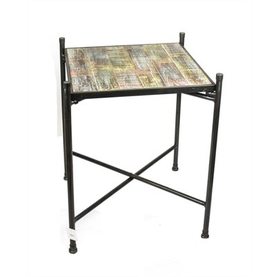 Mcgoldrick In-Trend Wood and Metal End Table