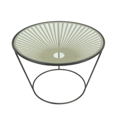 Pickney Glamorous Round Metal End Table