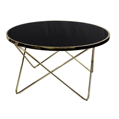 Kagan Round Lustrous Coffee Table