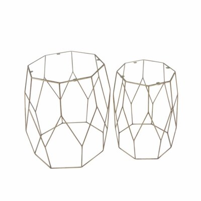 Mclamb Resplendent Wire Designed 2 Piece Nesting Tables