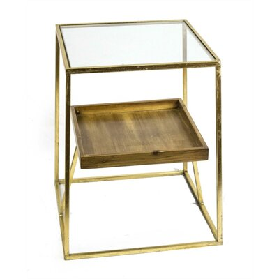 Kadyn Square Shaped Metal End Table