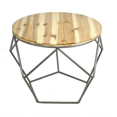 Mcleroy Geometrical Metal End Table