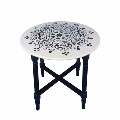 Kingsford Decorative Cross Base Round End Table