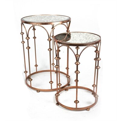 Frese Apt-Fully Striking Metal 2 Piece Nesting Tables