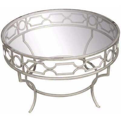 Baldwyn Metal & Glass Coffee Table