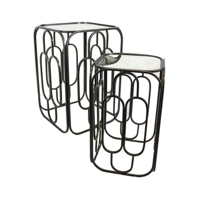 Lalonde Praiseworthy Metal 2 Piece Nesting Tables