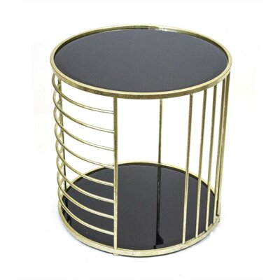 Kalish Utterly Astonishing Metal and Glass End Table