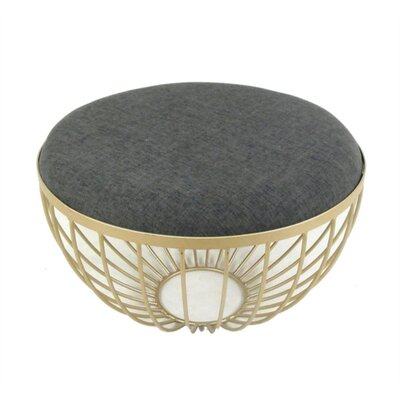 Kaelin Round Upholstered Metal Coffee Table