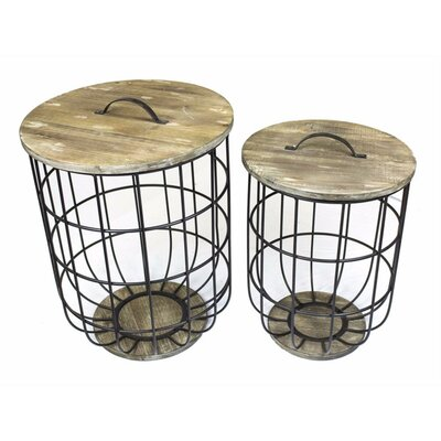 Atkins Storage 2 Piece Nesting Tables