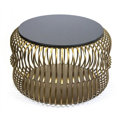 Kallas Opulently Decorous Metal & Glass End Table