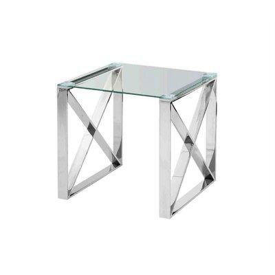 Fachon X-Framed End Table