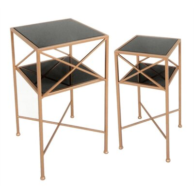 Justis Mirror 2 Piece Nesting Tables