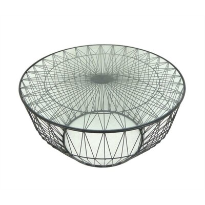 Lindberg Metal and Glass Coffee Table