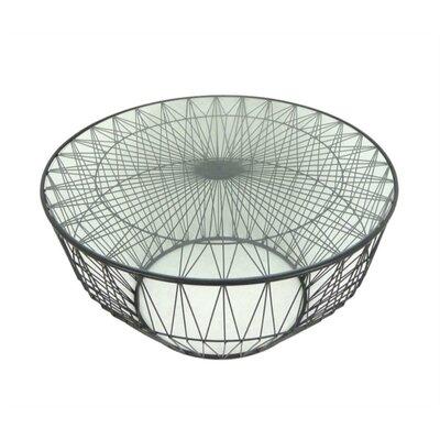 Lindberg Metal and Glass Coffee Table