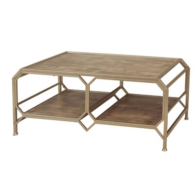 Laflamme Wood and Metal Coffee Table