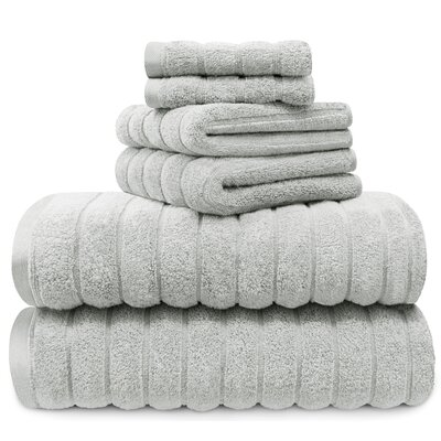Williamston Cotton 6 Piece Spa Towel Set Color: Harbor Mist