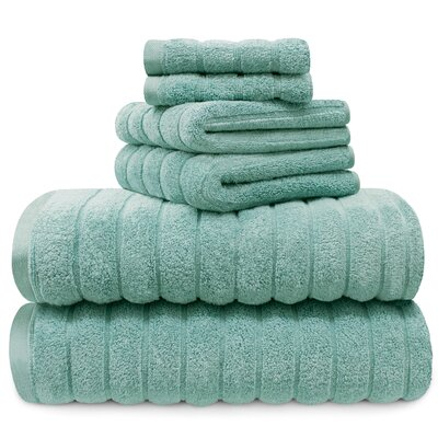 Williamston Cotton 6 Piece Spa Towel Set Color: Turquoise